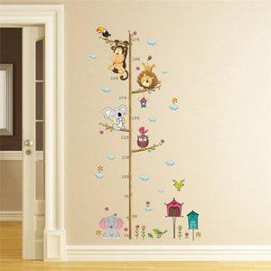 Cartoon TOISES Wall Sticker Pour Backdrop Chambres d'enfants Toise Règle Accueil Décoration Stickers muraux Art Stickers