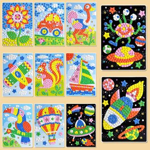 Kids DIY EVA Foam Stickers Mosaicos Puzzle Drawing Toys For Children Cartoon Animal Traffic Early Educational Arts And Crafts Q1106