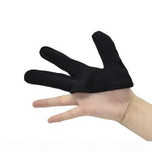 Barber Heardressing Straightener 3 Finger Luvas Resistente ao Calor Estilo Ferramenta Ferramenta de Dedo Preto Glove Hairdresser Tools