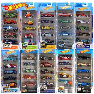Original Hot Wheels Diecast 5pcs Sport Auto Track Set 1:64 Metal Car Toy Toy Hotwheels Mini Giocattoli per bambini Model Car Oyuncakq1221