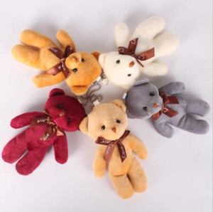 Day Festival Accessories Keychain Plush Accessories Siamese Teddy Valentine's Bow Doll Bear Pendant Bear Bag Small Gift Qixi Tie