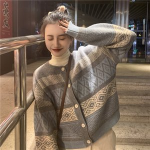 20ss Cardigan for women Fashion sweaters Pull luxury design chunky knit cardigan lady's -neck button Long Sleeve Cardigan sweater Oversize s