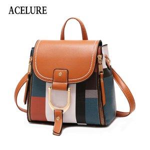 Bolsas ACELURE Diseñador mochilas Mujeres PU mochilas escolares Mujer para viajes Adolescente Niñas Sandalias Volver Bolsa Retro Bagpack 200930
