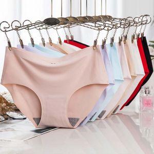 60Pcs lot Seamless Panties Women Sexy Panties Briefs Ice Silk Underwear Women Tanga Women Sexy Lingerie String Femme Bragas
