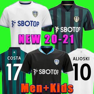 Leeds United camiseta de fútbol kit 20 21 T ROBERTS HARRISON HERNANDEZ COSTA BAMFORD ALIOSKI CLARKE 2020 camisa 2021 de fútbol uniformes Men + niños
