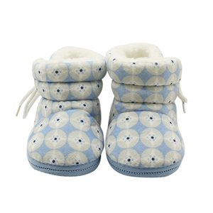 Newborn Infant Baby Girls Boys Winter Warm Fleece Soft Soled Crib Shoes Kids Toddlers Flock Snow Boots Sneakers First Walkers