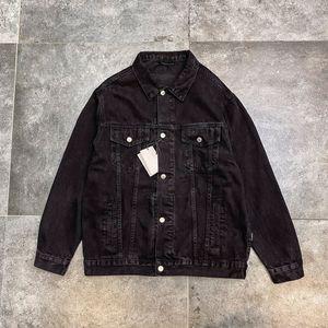 Men's Denim Jacket Loose Lapel Denim Jacket Beads Fashion Buttons New Style Stresswear Causual Asain Size S-XL