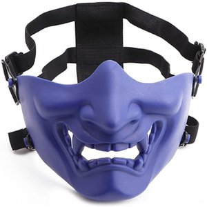 Uomini Laugh Halloween Ball COS Tactical Mask Prajna Horror Dsfl OiRQC Devil mezza risata Halloween tattica e sfera Devil Mas Prajna Donne Lnuf