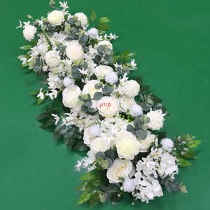 10pcs 100cm Flower Flower Arch Arrangement Stage Road Road Field Mariage Scène de mariage Décoration de fête Floral