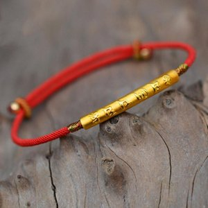 2020 new six-word mantra bracelet red rope Chinese knot braided hand rope ladies hot sale