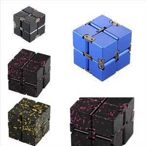 Hm3ky Cube Aluminio AlloyCube Geometría Dimensional Magic Metal Pulsera Novedad Cube Rubik's Three Pulsera Versión Infinite Cube Coreano