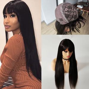 Brasilianisches Jungfrau-Haar-Vollautomat Human-Haar-Perücken gerade kabinistische Perücke 10-30inch Straight billig großhandel