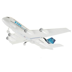 New Airbus A380 hand drop remote control glider, children's electric toy foam aircraft model