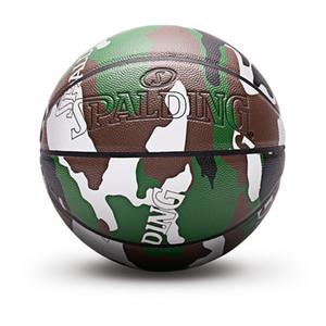 Spalding Баскетбольный мяч Официальный камуфляж Цвет Светоотражающий 7-й PU Модный подарок Внутренний Открытый Износостойкие Мальчики Подарки