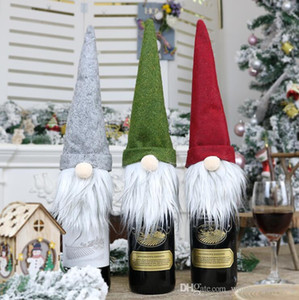 Wholesale 2020 New christmas Faceless gift Doll Wine Bottle Case Wine Bottle Cover kids toys Christmas Decoration jouets pour enfants BY1410