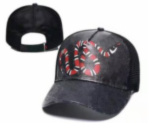 2021 g de chapeaux de concepteurs Tiger Bee Snake Caps Casquettes Mens Summer Casquette Femme Broderie extérieure Snapback Hip Hop Snapback Classic Baseball Dad Caps