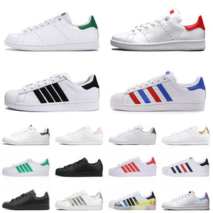 Männer schuhe stan smith superstars 2020 Chaussure Neue Qualität Leder Stan Smith Superstars Herren Damen Mode Casual Skateboard Schuhe Plattform Flats Sneakers 36-45