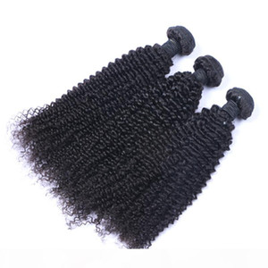High Quality Unprocessed Brazilian Malaysian Peruvian Kinky Curly Remy Virgin Human 30 Inch Hair Extensions Natural Color Hair Weave