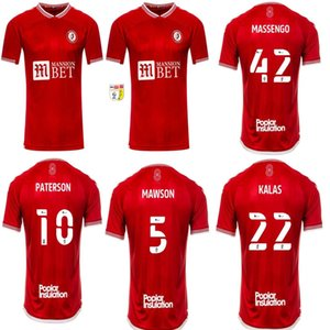 Nuevo 2020 2021 Bristol Weimann City Soccer Jerseys Home Mawson Martin Diedhiou Paterson Wells Massengo Kalas Kalas Dasilva Camisetas de fútbol