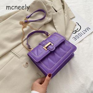 Новая модная сумка леди с небольшим квадратным кольцом-решеткой повседневная дама одинарного плеча, пересекающая цепь маленькая сумка Tote