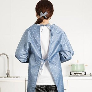 NEW Home Dot Erasable Hand Apron Kitchen Pocket Waterproof and Oil Proof Apron, Size:One Size