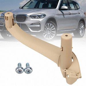 Handle 4pcs Car Inner Painel Porta Interior Pull guarnição Capa para X4 F26 X3 F25 2011-2017 ZRqg #