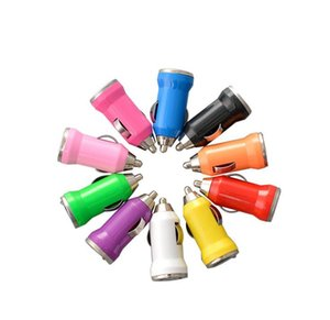 2020 Universal Mini USB Car Charger Universal USB Adapter Colorful Car Charger for cell phone