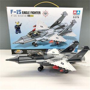 Aircraft fighter building blocks children 6-12 years old model intellectual assembly toy