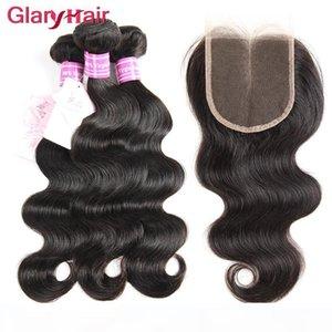 Sizin için en iyi Kapatma En Dantel Kapanması ile Satış Glary Saç Ürünleri Brezilyalı Saç Uzantıları Remy İnsan Saç wefts 4x4 Toptan Hemen