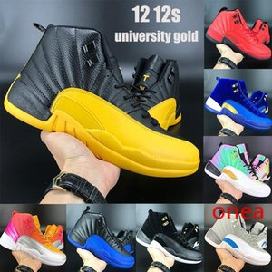 New 12 12s jumpman shoes indigo university gold reverse flu game iridescent reflective sunrise CNY outdoor mens trainers sneakers