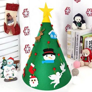 1 Set Diy Felt 3d Christmas Tree With Hanging Ornaments Xmas Gifts For Kids Three Dimensional Christmas Tree Home Decorations sqcssf