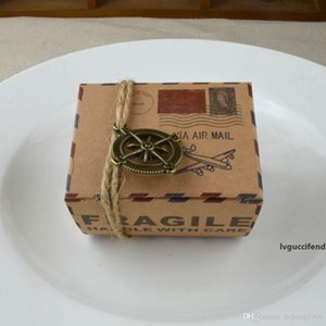 Candy Box Kraft Paper Packing Dessert Gift Case Retro Style Wedding Souvenirs With Rope Compass Earth Ornaments 0 35wj R