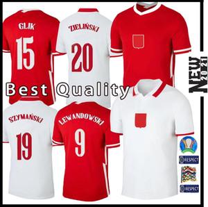 2020 2021 equipa nacional NOVO Pol LEWANDOWSKI e Futebol Início branco afastado vermelho Milik Piszczek Piatek Grosicki camisa de futebol camisas