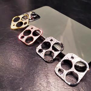 iPhone 12 11 Pro Max Camera Lens 화면 보호기 반짝이는 소매 상자가있는 풀 커버를위한 카메라 필름 다이아몬드 강화 유리