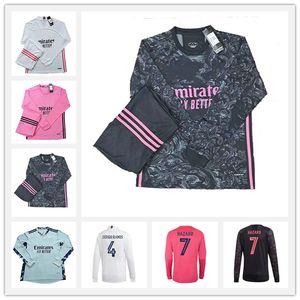 20 21 Real Madrid Manga Longa Futebol Jerseys Mendy Hazard Valverde Rodrgo Camiseta 2020 2021 Vinicius Asensio Camisa de Futebol Equipamento