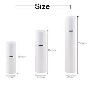 15 30 50 ملليلتر فارغة إعادة الملء الأبيض عالية الجودة فراغ مضخة فراغ زجاجة بلاستيك كريم حاوية أنبوب السفر حجم EEEF3935