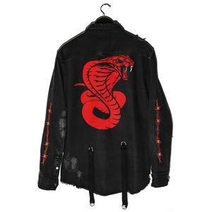 Mans Manteaux Denim Veste pour hommes Slim Slim Veste Denim Jacket Print Vestes Hommes Cowboy Outwear Vêtements Hip Hop Streetwear