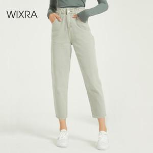Wixra повседневные женские Femme BF Джинсовые брюки высокой талии Карманы Брюки летние женские джинсы Streetwear 201027