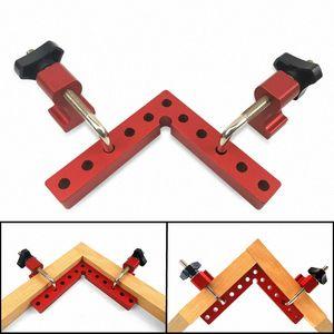 1 juego rápido fijo en forma de L de la esquina abrazaderas Madera Metal ángulo recto de aleación de aluminio de 90 grados de ángulo recto Pinza Herramienta de la carpintería Db9C #