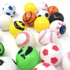 de goma sólida Saltar bola hinchable de juguete para niños sólida flotante de rebote elástico de goma al aire libre del niño de la bola Fun Sport