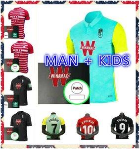 Com patches 2020 2021 Granada futebol jersey 20 21 Soldado fernandez machis puertas f.Vico camisa de futebol meninos azeez herrera mens kid kit