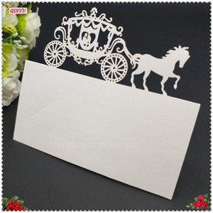 100Pcs Laser Cut Royal Carriage Party Table Name Seating Decoration Table Seating Numbers Name Place Cards Wedding Supplies 6Z W2Mg#