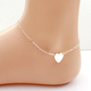 Girl Fashion Simple Heart Ankle Bracelet Chain Beach Foot Sandal Jewelry 114 M2
