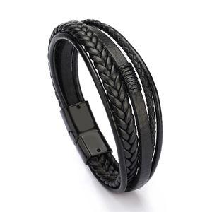 Mens bracelets luxury designer jewelry mens gold bracelets handmade leather bracelet Magnet buckle bangle wholesale jewelry