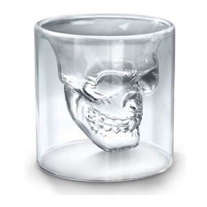 25ML Wine Cup Skull Glass Shot Glass Beer Whiskey Halloween Decoration Creative Party Transparent Drinkware Drinking Glasses w-00583