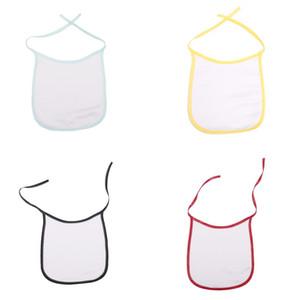 Сублимация Blank младенца Bib Multicolors DIY полиэстер теплопередача печати Babe Слюна нагрудники есть.Пить Анти Грязь Babies Кормление инструмент 3 5ex L2