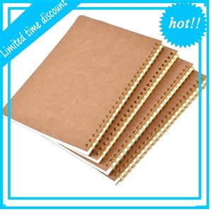 New hot sale A5 kraft paper cover dot matrix grid coil school business diary notebook office supplies