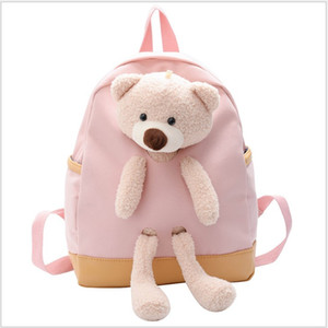 Backpacks Girls Arrivals Kids School Bear Doll 2021 Princess Bags Bag Cartoon New Kindergarten School Children Child Boys Purses Nmqkm