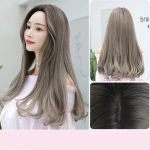 Ladies Mid-length Straight Hair Pear Flower Head Wig Colour Aoki Linen Grey