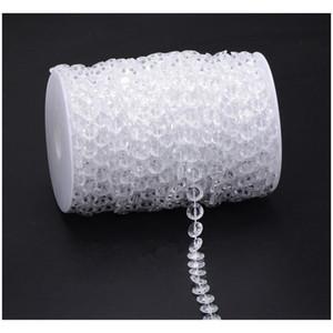 Party Supplie 30m Acrylic Crystal Beads Clear Diamond Fiesta de bodas Garland Chandelier Cortina Decoraciones Jllocb Lucky2005